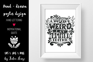 I'm not weird | Quote illustration