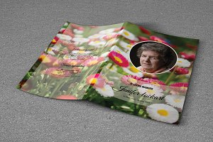 Funeral Program Template-T514