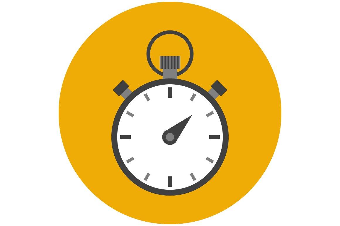 stopwatch flat icon icons creative market