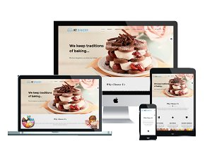 AT Bakery Onepage Joomla Template