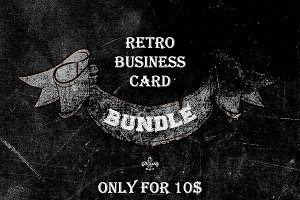 5 Retro Business card Bundle