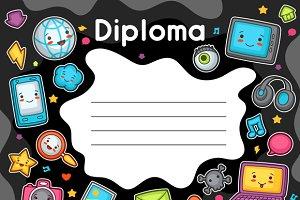 Kawaii gadgets diplomas.