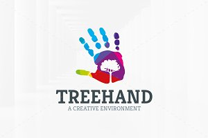 Tree Hand Logo Template