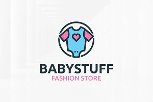 Baby Stuff Logo Template