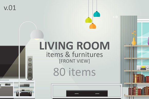 Living Room Items Illustrations Creative Market