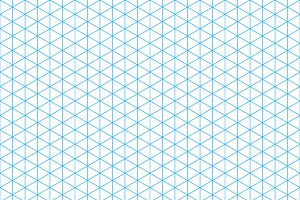 Cyan isometric grid seamless pattern
