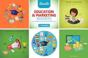 Education and Marketing Banners