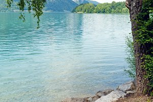 Mondsee  summer lake (Austria).