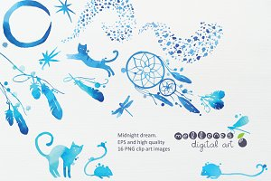 midnight dream clip art images