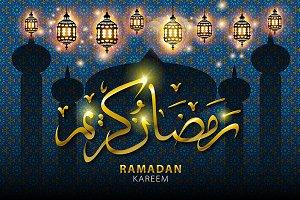 vector ramadan kareem arabic