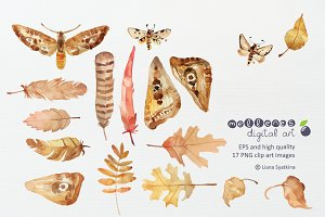 hand drawn nature clip art images