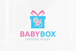 Baby Box Logo Template