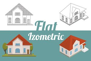 Set isometric and flat buildings