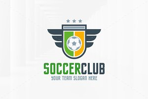 Soccer Club Logo Template v2
