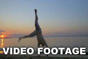 Acrobat Making Somersault