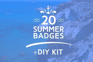 Summer Vintage Badges + DIY kit