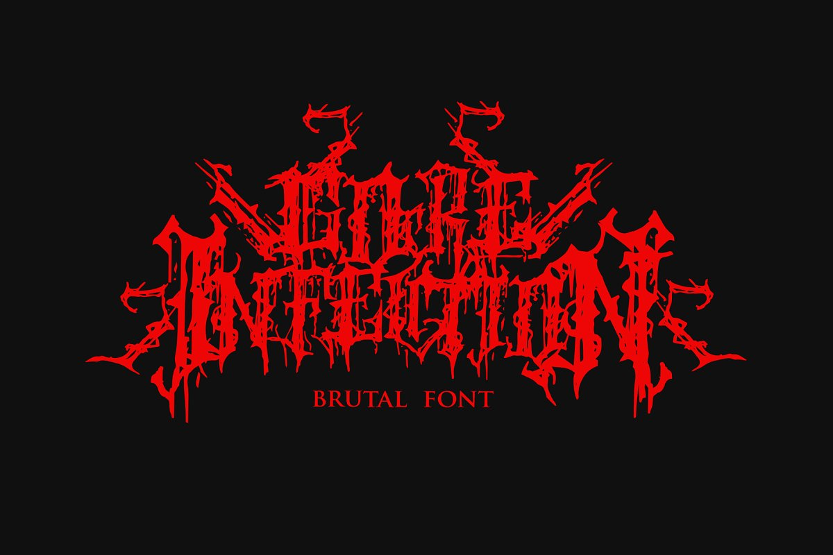 GOREINFECTION ~ Blackletter Fonts ~ Creative Market