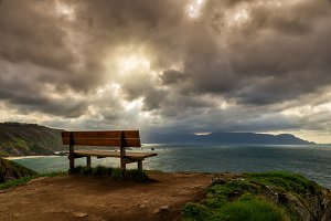 Bench at the cliffs