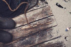 Rough sea fisherman hero header