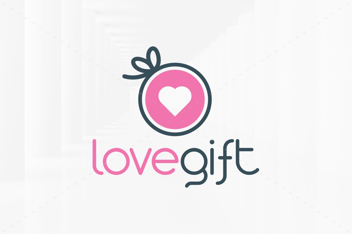 Love letter logo template logo templates creative market love gift logo template negle Gallery