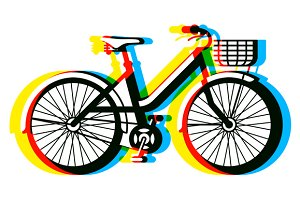 Bicycle and seamless pattern