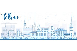 Outline Tallinn Skyline