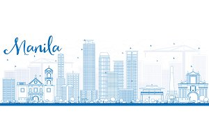 Outline Manila Skyline