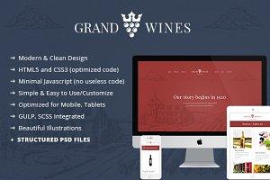 Grand Wines v.2 - Premium Template