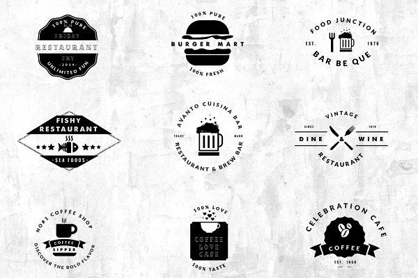 09 Vintage Logos - Restaurant / Caf…
