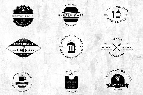 09 Vintage Logos - Restaurant / Cafe