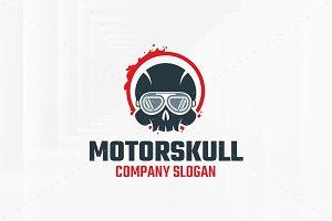 Motor Skull Logo Template