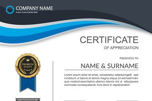 Vector certificate template 12 in 1