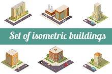 Set of isometric buildings