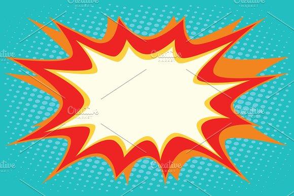 Comic Book Explosion Bubble Dynamic Illustrations Creative Market