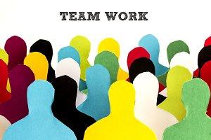 Paper Man Team Business Concept