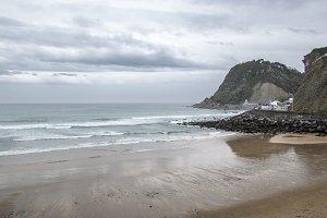 Gaztetape beach and Mount San Anton