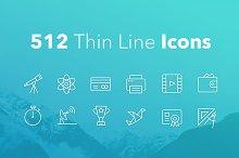 512 Thin Line Icons