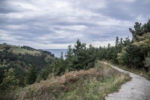 Roads along the cantabrian sea