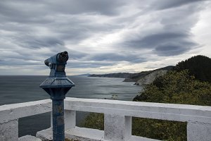 Viewpoint to cantabrian sea