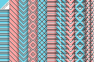 Vector geometrical seamless patterns