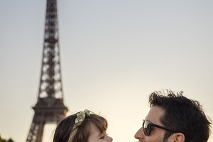 Father and daughter in Paris
