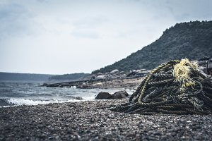 Rope stack on Beach