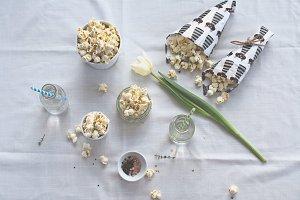 Thyme-flavoured popcorn.