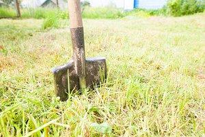 old metal shovel