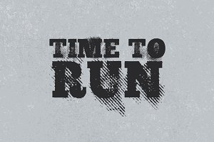 Time To Run - Gritty Halftone Font