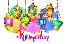 Ramadan Greeting vector card