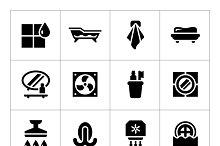 Set icons of bathroom