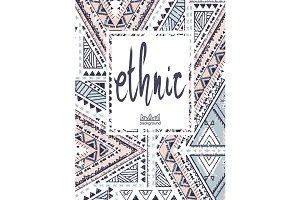 Hand Drawn Ethnic Card