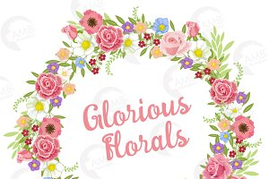 Floral Wreath Clipart, 1324