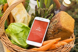"Mockup iPhone Food Marketplace ""C"""